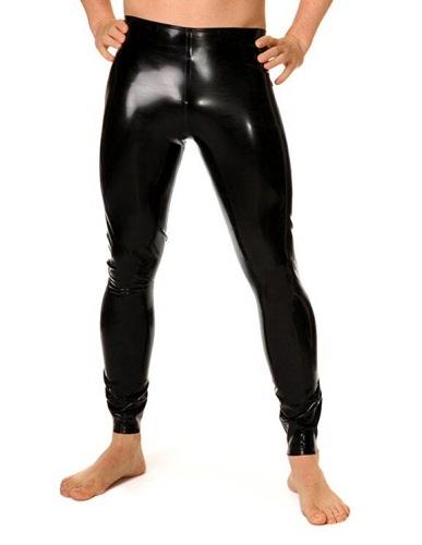Latex male footless leggings